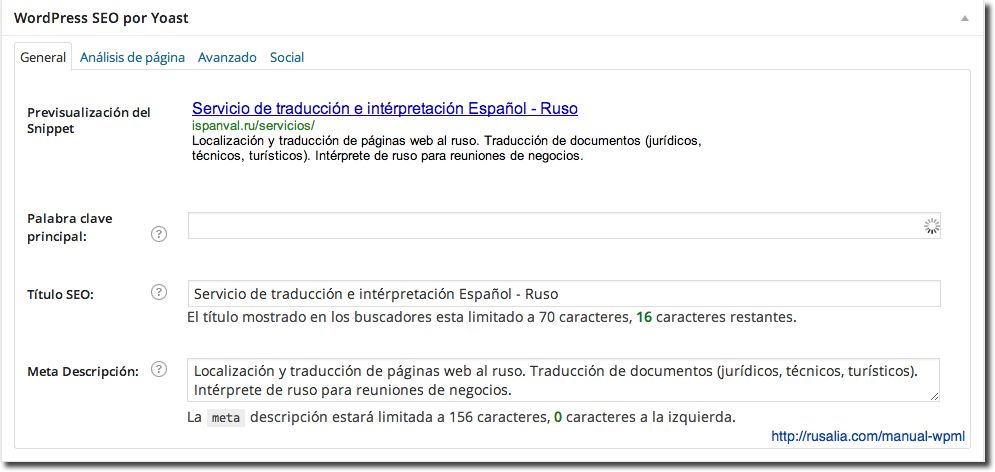 Wordpress SEO by Yoast WPML
