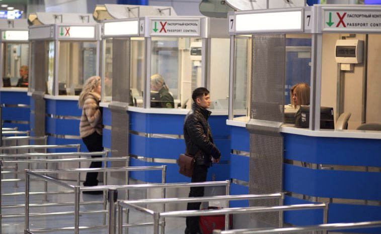 minsk airport - control pasaportes
